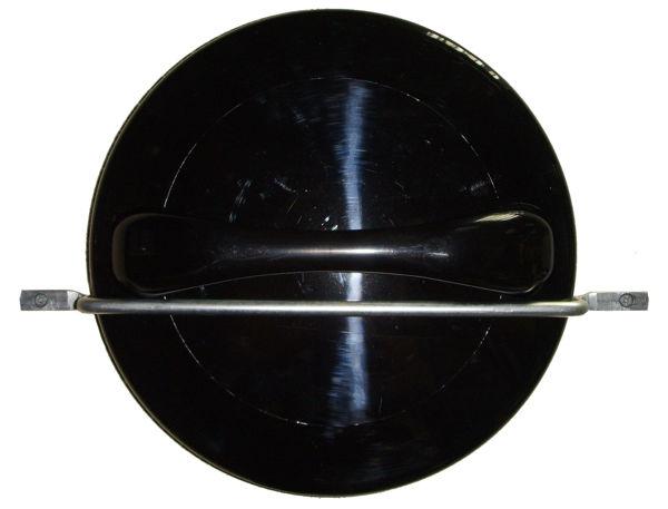 מראת עורף שחורה עגולה עם מחזיק