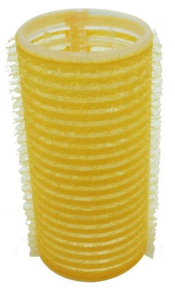 רולים לשיער וולקרו 28 צהוב בינוני (12 יח')