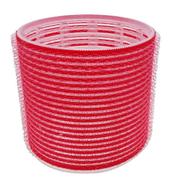 רולים לשיער וולקרו 70 אדום ענק (6 יח')