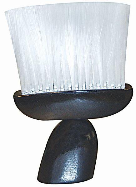 מברשת ניקוי צוואר- ידית עץ שחורה