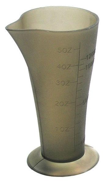 כוס מדידה אפורה שקופה קונוס