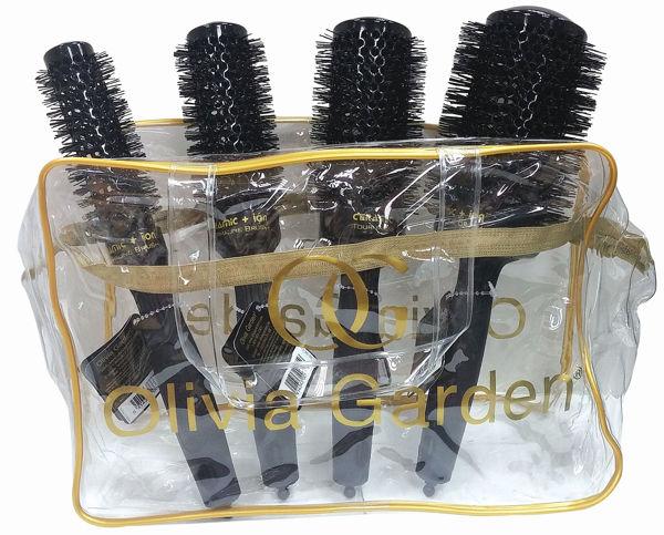 סט 4 מברשות פרו קרמיק שחור אוליביה גרדן