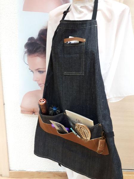 סינר ג'ינס עם כיסים מעוצב