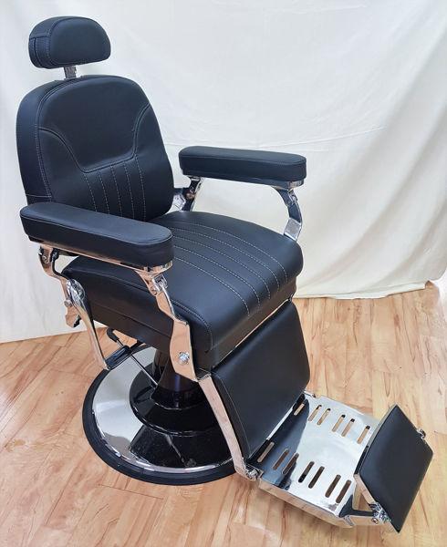 כסא רויאל שחור תפר לבן