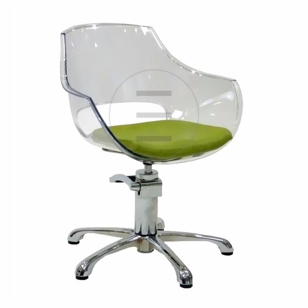 כיסא הידראולי אופל גב פלסטיק ריפוד שחור