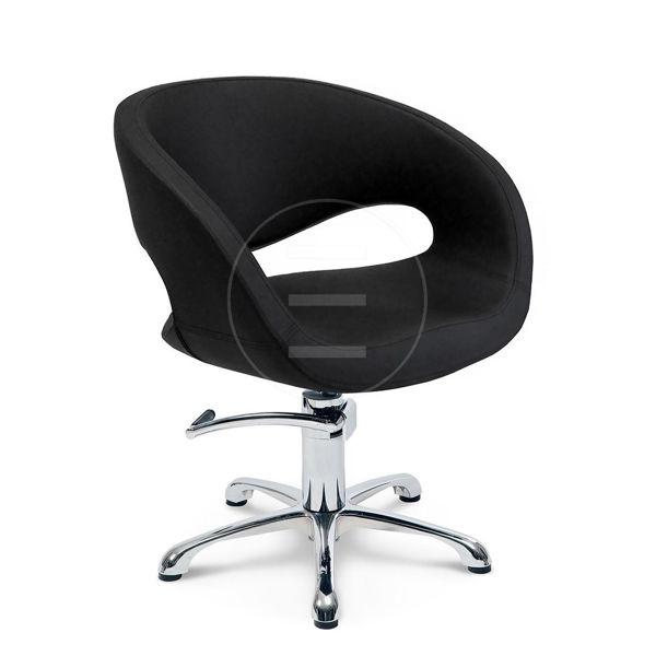 כיסא הידראולי לינון ריפוד שחור