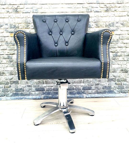 כיסא הידראלי קינג  שחור מקומט